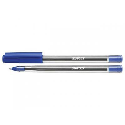 Staples pen: Balpen SPLS M 0,7 mm blauw/pak 50