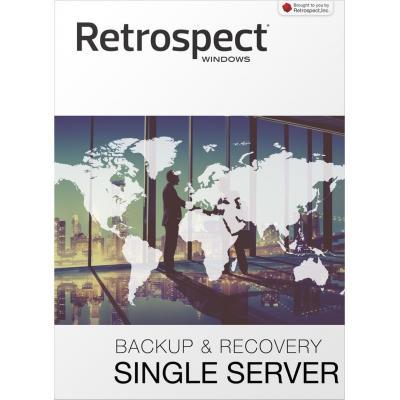 Retrospect backup software: (v15), Single Server (Disk-to-Disk), license, 1 server, 5 workstation clients, download, Win