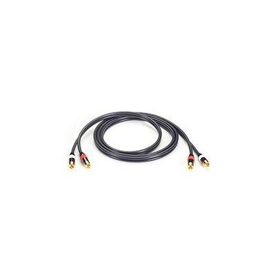 Black Box Stereo Audio Cable - (2) RCA Connectors on Each End, 3-ft. (9.8-m) - Zwart