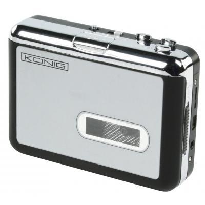 König audio converter: Cassette - MP3 converter - Zwart, Zilver