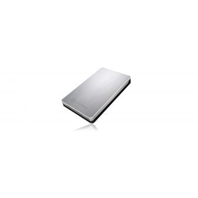 Icy box behuizing: IB-234-U31A - Zwart, Zilver