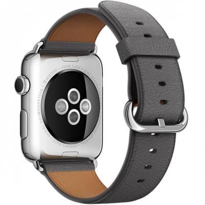 Apple : Stormgrijs bandje, klassieke gesp, 42 mm