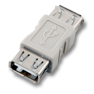 EFB Elektronik USB 2.0 Adapter, Jack A / Jack A Kabel adapter - Grijs