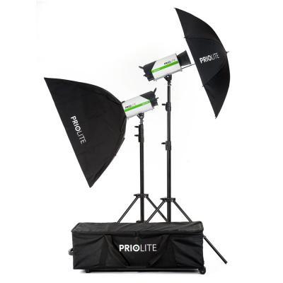 Priolite photo studio equipment set: MBX 1000 Leipzig Kit - Zwart