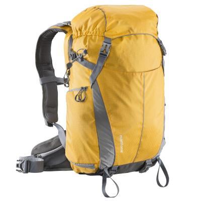 Mantona rugzak: Elements Outdoor Backpack with Camera Bag - Grijs, Oranje