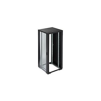 Eaton rack: RE Series IT Rack: 42U x 800mmW x 800mmD. Glazed doors with no sides - Zwart