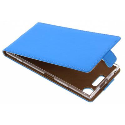 Luxe Softcase Flipcase Sony Xperia XZ1 - Blauw / Blue Mobile phone case