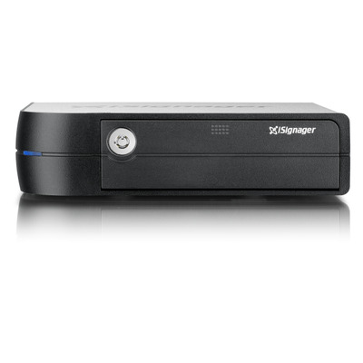 "QNAP iS-1500 - Sigma Designs SoC processor, 1 x 2.5"" SSD bay, SDHC, 2 x USB 2.0 Mediaspeler - Zwart"