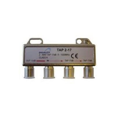 Digiality kabel splitter of combiner: 2-way tap 1.5/17 dB 5-1000 MHz
