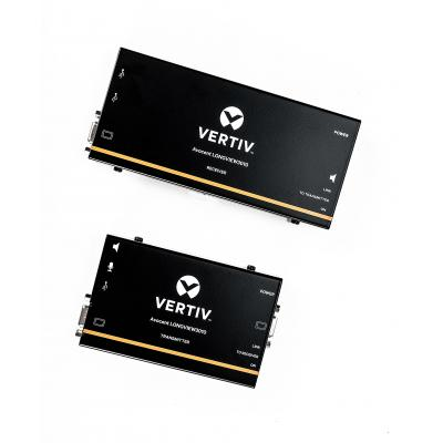 Vertiv Avocent LongView enkele VGA, USB, audio, CATx 300M, EU - Zwart