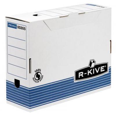 Fellowes archiefdoos: Prima 100mm A4 transfer archiefdoos - blauw - 12 pack - Blauw, Wit