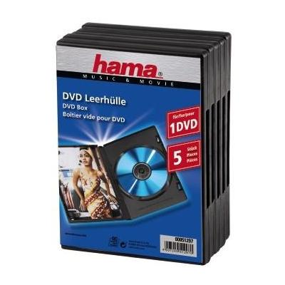 Hama : Standard DVD Jewel Case, pack of 5, black - Zwart