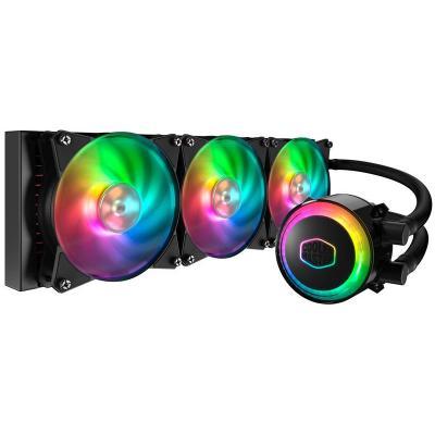 Cooler master water & freon koeling: MasterLiquid ML360R RGB - Zwart