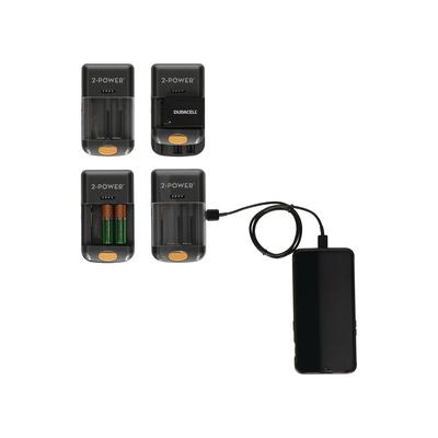 2-Power Universal Camera Battery Charger Oplader - Zwart