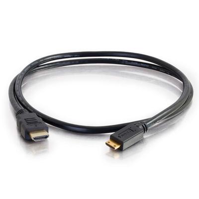 C2G 1 m High Speed HDMI(R) naar HDMI Mini kabel met Ethernet HDMI kabel - Zwart