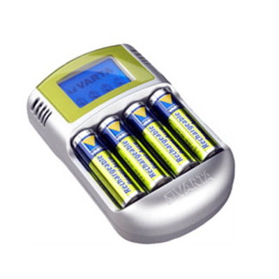 Varta Power Play LCD Charger+12V+USB Oplader - Zilver