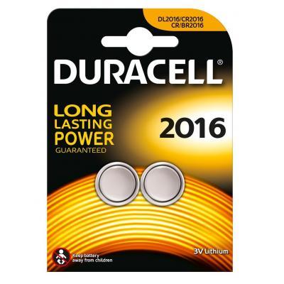 Duracell batterij: Specialty 2016 Lithium knoopcelbatterij, verpakking van 2