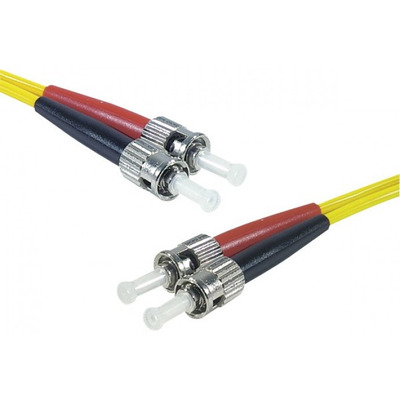Connect ST-UPC/ST-UPC duplex singlemode OS2 9/125 Fiber patch cable yellow, 8 m Fiber optic kabel - Geel