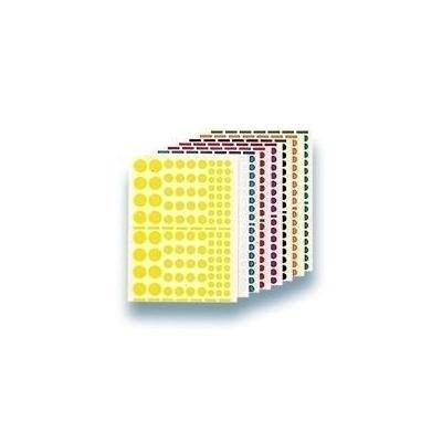 Agipa etiket: Playshapes labels. Circles. 1040 pcs - Veelkleurig