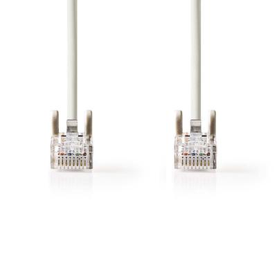 Nedis AWG 26, 6.2 mm, 3 m, 1:1, RJ45, 8P8C, CAT5e Netwerkkabel - Grijs