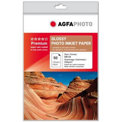 Agfaphoto fotopapier: 50sheets 210gr high glossy - Multi kleuren