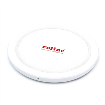 ROLINE Wireless Charging Pad for Mobile Devices, 10W Oplader - Wit
