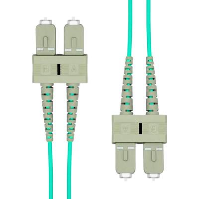 ProXtend SC-SC UPC OM3 Duplex MM Fiber Cable 0.5M Fiber optic kabel - Aqua-kleur