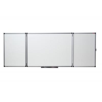 Nobo magnetisch bord: Inklapbaar, magnetisch, emaillen whiteboard van, afmeting: 1200 x 900mm (ingeklapt) - Wit