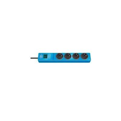 Brennenstuhl power extrention: Extension socket 4-way blue 2m H05VV-F3G1,5 - Blauw