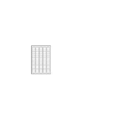 Avery White Mini Label - Inkjet - J8651 Etiket - Wit