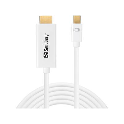 Sandberg MiniDP 1.2 > HDMI 4K 2m - Wit