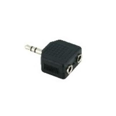 V7 Black Audio Adapter 3.5mm Male to 2 x 3.5mm Female Kabel adapter - Zwart