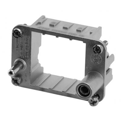 Amphenol Frame for 2-pin modules, Size E6 Multipolaire connector-behuizing - Metallic