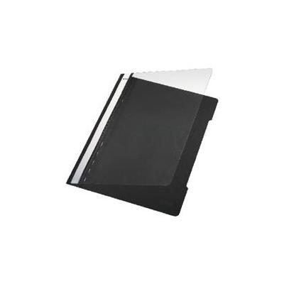 Leitz Standard Plastic File Black A4 PVC Stofklepmap - Zwart