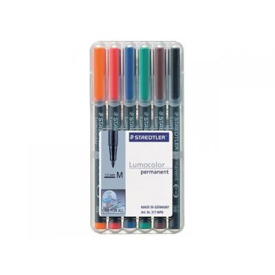 Lumocolor markeerstift: OHP/CD/DVDmarker Lc317 M ass/etui 6