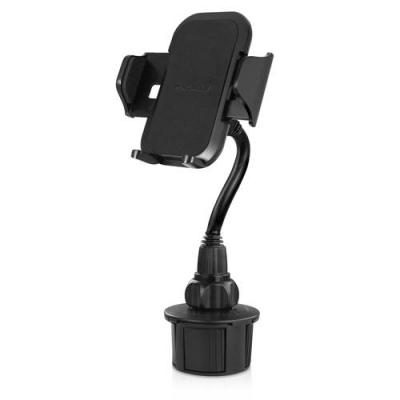 Macally : Adjustable car cup holder mount smartphones and mobile phones - XL long neck - Zwart