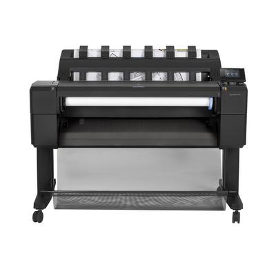 Hp grootformaat printer: Designjet T930 - Cyaan, Grijs, Magenta, Mat Zwart, Foto zwart, Geel