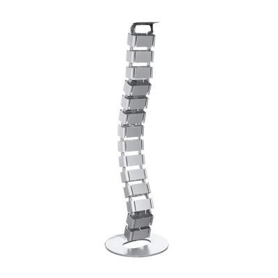 Logilink : Flexible cable channel for desktops, 800 x 68 mm (18 joints), silver - Zilver
