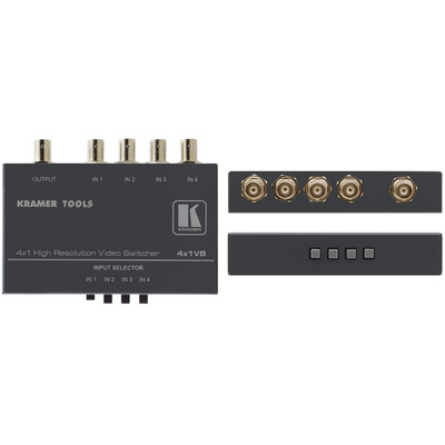 Kramer Electronics Kramer 4x1VB Switcher Video switch - Zwart