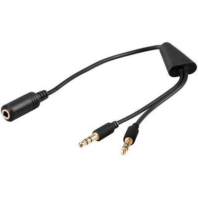 Microconnect 2x3.5mm - 3.5mm, M-F - Zwart,Groen,Rood