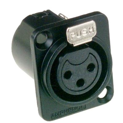 Amphenol 3P, XLR Elektrische standaardconnector - Zwart