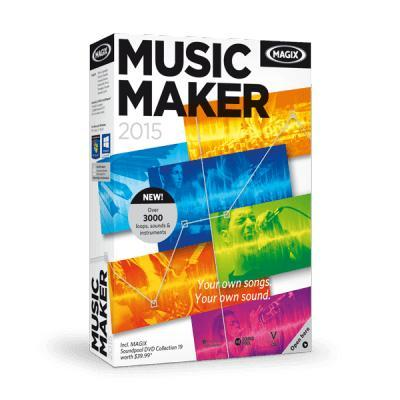 Magix audio software: Music Maker 2015