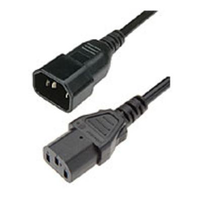 Hewlett packard enterprise electriciteitssnoer: IEC320-C14 to C13 (10A/8ft/2.5m) PDU Cable - Zwart