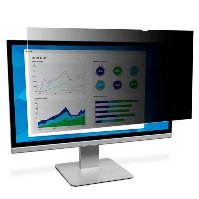 """3m schermfilter: Privacyfilter voor standaardscherm voor desktop 17"""" - Zwart, Doorschijnend"""