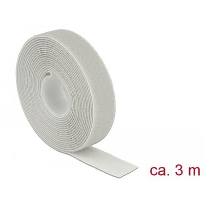 DeLOCK L 3 m x W 20 mm roll grey - Grijs