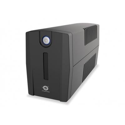 Conceptronic ZEUS 01E, 650 VA, 360 W, IEC Socket, 220-240 VAC, 4.4 kg UPS - Zwart