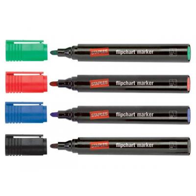 Staples markeerstift: Marker SPLS flipchart assorti/doos 4