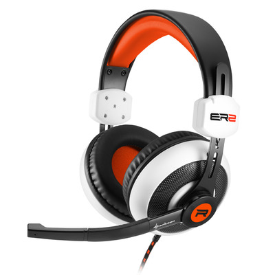 Sharkoon RUSH ER2 Headset - Zwart, Rood, Wit