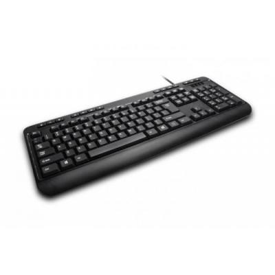 Adesso toetsenbord: 104-Key, US Layout, 14 Hotkeys, USB, Black, 515g - Zwart, QWERTY