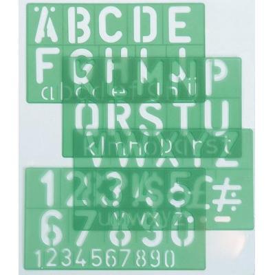 Linex belletering: Template 50 mm, green - Groen
